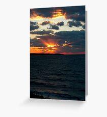 umpteen sunset number ______ Greeting Card
