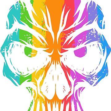 Colorful Skull by dylandillinger