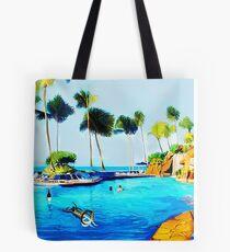 Corky's diving Tote Bag
