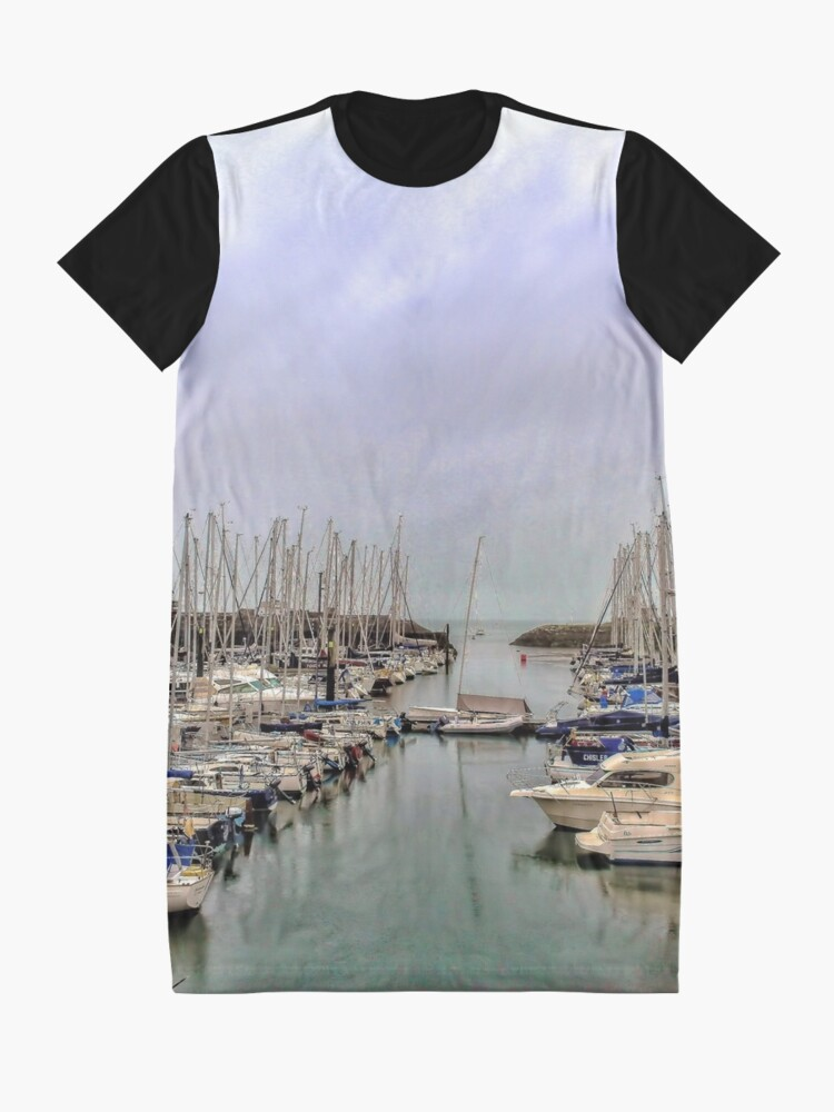 Alternate view of Howth Harbour Graphic T-Shirt Dress