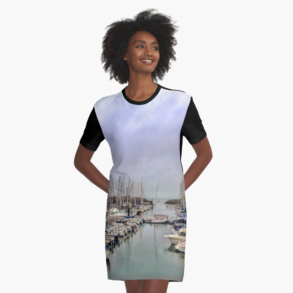 Howth Harbour Graphic T-Shirt Dress