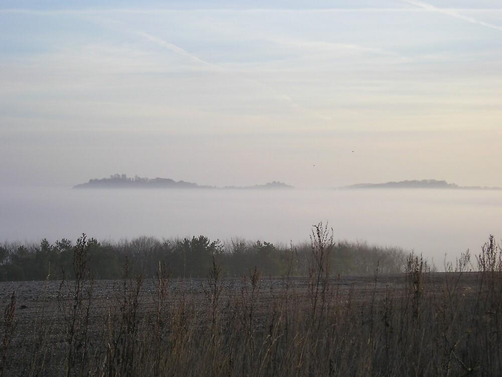 Fog Sea Islands by Stronsy