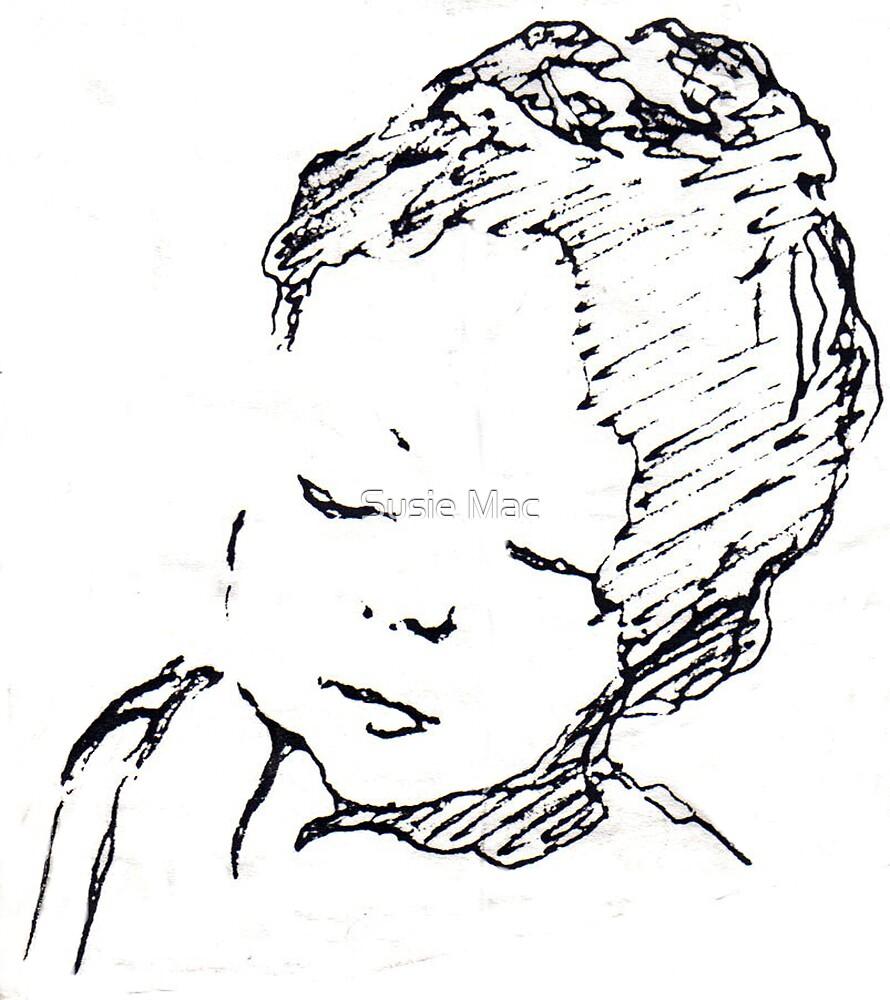 Refugee child by Susie Mac