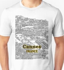 Cannes, France - Skyline - Convention Center - Port T-Shirt
