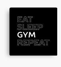 Lets Workout at the gym t-shirt Canvas Print