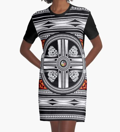 Fire Spirit Graphic T-Shirt Dress