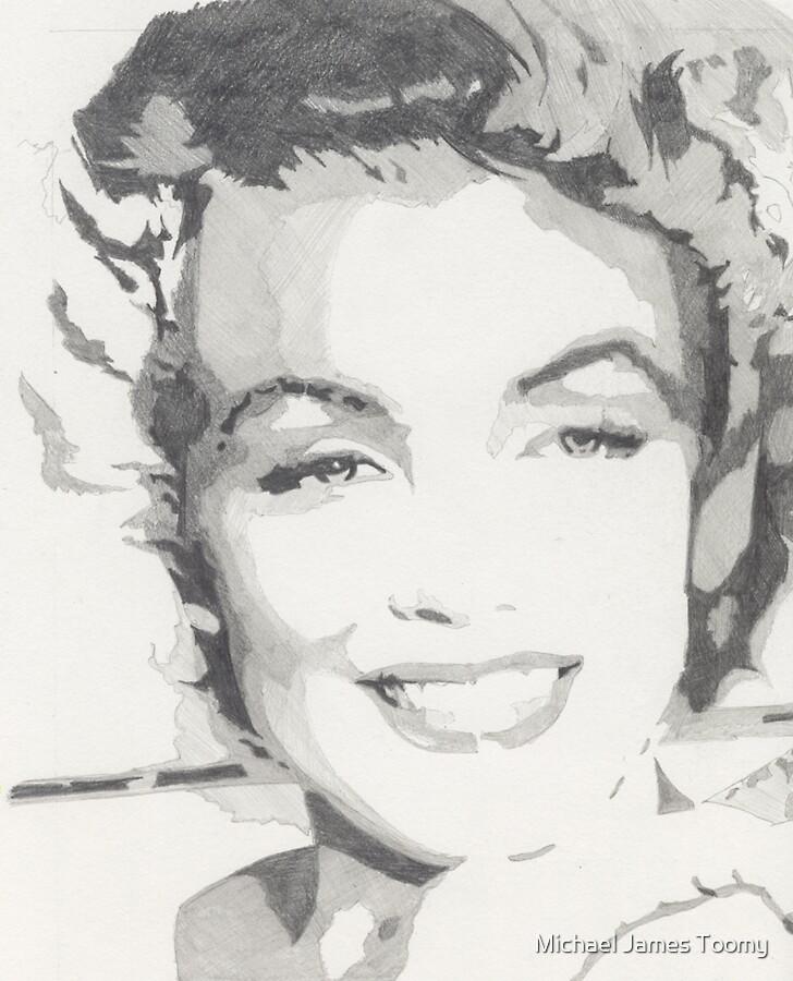 Marilyn Rough Pencil Sketch by Michael James Toomy