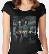 Sam Dean Supernatural Cover Women's Fitted Scoop T-Shirt