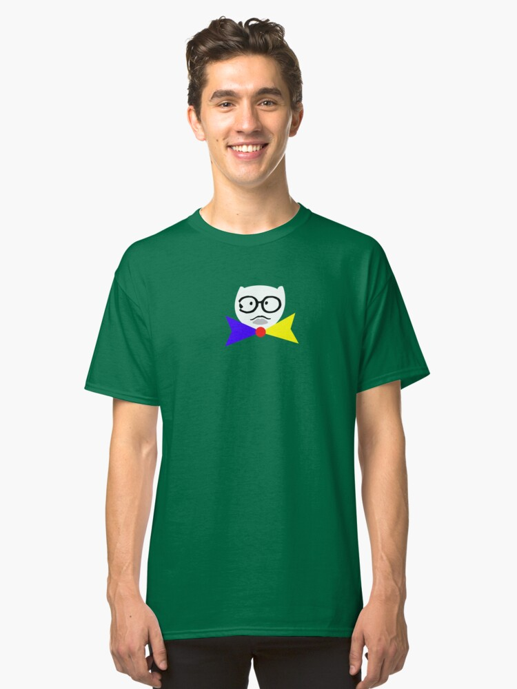 Cat with Specs & Bowtie Classic T-Shirt Front