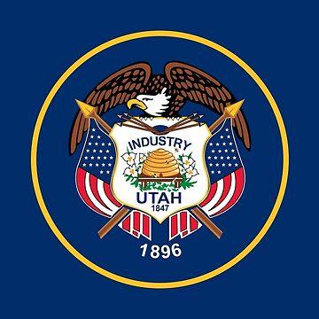 Flag of Utah by Countries-Flags