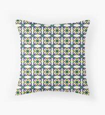 Exotic Flower Pattern Throw Pillow