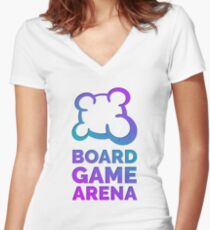 Board Game Arena T-shirt moulant col V