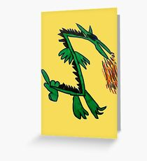 Stinker the Japanese Dragon by Nicola Greeting Card