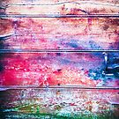 Colorful rotten wooden door by Silvia Ganora