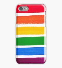Vector rainbow watercolor brush strokes iPhone Case/Skin