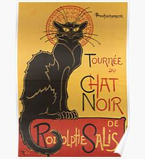 Soon, the Black Cat Tour by Rodolphe Salis Poster
