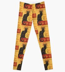 Soon, the Black Cat Tour by Rodolphe Salis Leggings