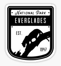 Everglades National Park Badge Design Sticker