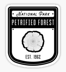 Petrified Forest National Park Badge Design Sticker