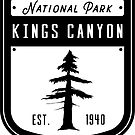 Kings Canyon Nationalpark Abzeichen Design von nationalparks