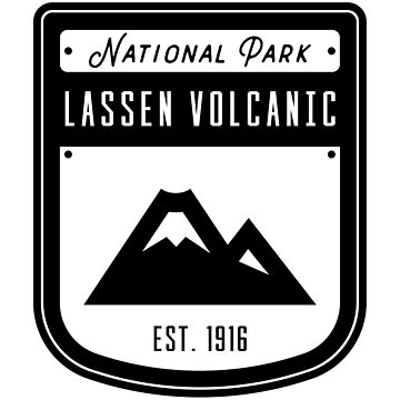 Lassen Volcanic National Park Badge Design by nationalparks