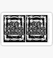 Keep Cycling Strange - Spoke Card Sticker