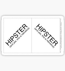 Hipster Spoke Card Sticker