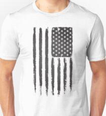 American flag Grunge Black Unisex T-Shirt