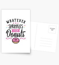 Postales Lo que sea Sprinkles Your Donuts Typography