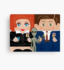 Alien Investigators Canvas Print