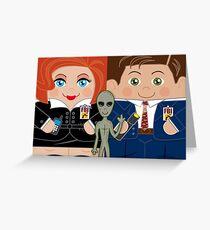 Alien Investigators Greeting Card