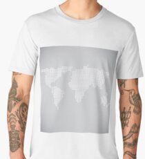 dotted worls map Men's Premium T-Shirt
