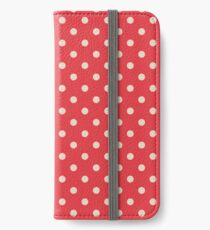 Seamless background of polka dot pattern iPhone Wallet