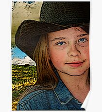 """When I Grow Up I Wanna Cowboy..."" Poster"