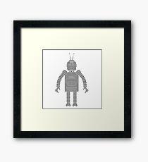 robot icon Framed Print