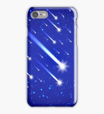 Space background with stars and comets iPhone Case/Skin