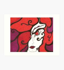 Mystere' The Fire-Dancer Art Print