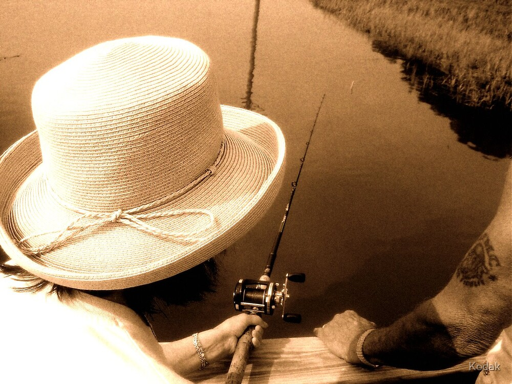 Old School Fishing by Kodak