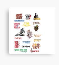 Sondheim Musicals  Canvas Print