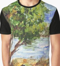 Tarlton landscape in Acrylic Graphic T-Shirt