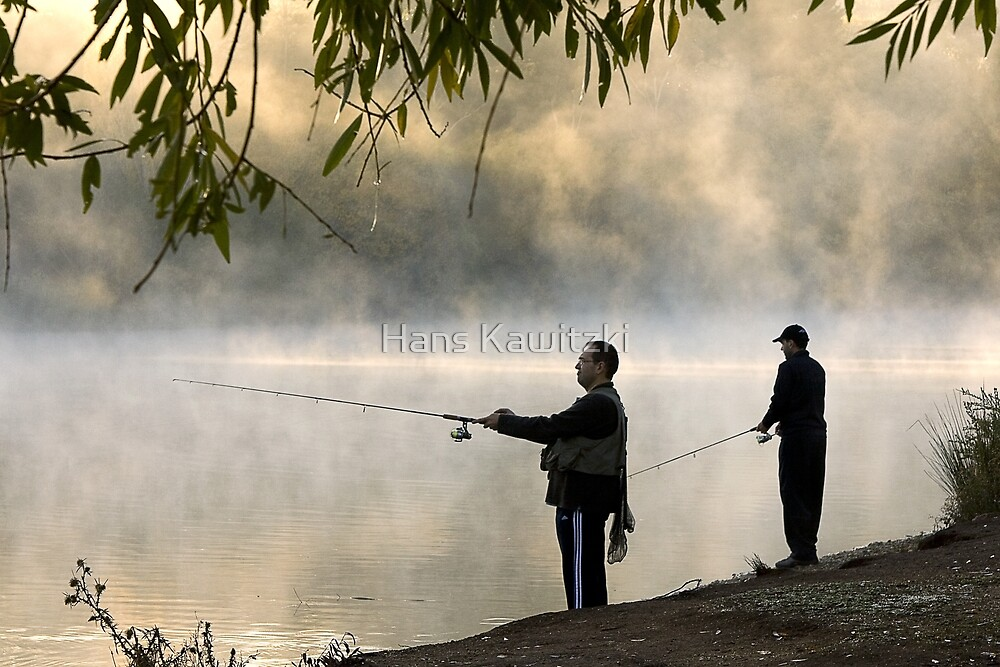 1180 Fishing for Trout - Lake Dayleford by Hans Kawitzki