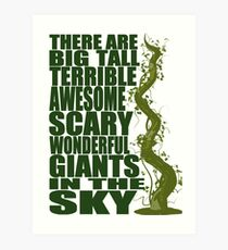 There Are Giants in the Sky! Art Print