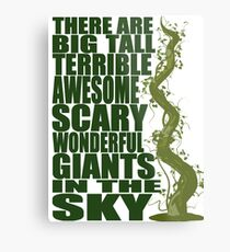 There Are Giants in the Sky! Metal Print