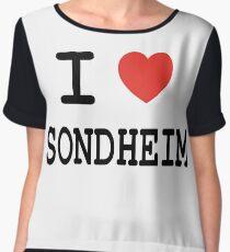 I <3 Sondheim Women's Chiffon Top