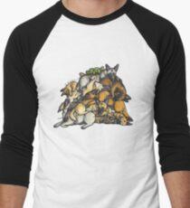 Sleeping pile of Malinois dogs Men's Baseball ¾ T-Shirt