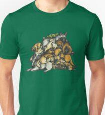 Sleeping pile of Malinois dogs Unisex T-Shirt