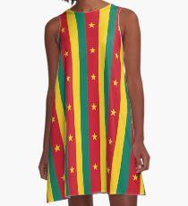 Cameroon Flag National Football Team T-Shirt Sticker A-Line Dress