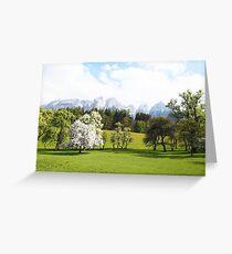 Green Spring Austrian Landscape Greeting Card