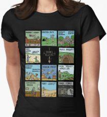 Camiseta entallada para mujer Raising Horizons TrowelToon NEGRO