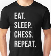 eat sleep chess repeat Unisex T-Shirt